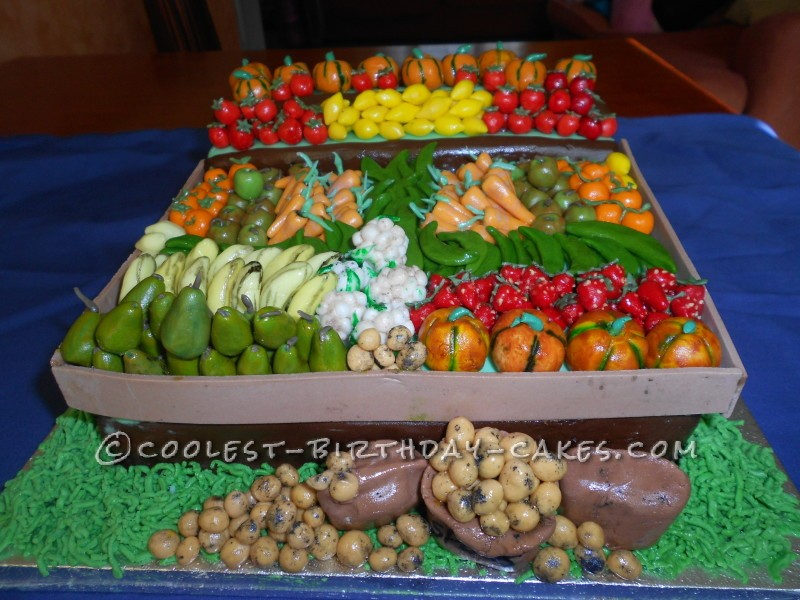 Coolest Fruit and Vegetable Cake for the Local Craft and Produce Fair