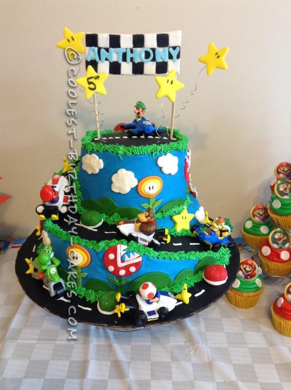 Coolest Mario Kart Wii Birthday Cake