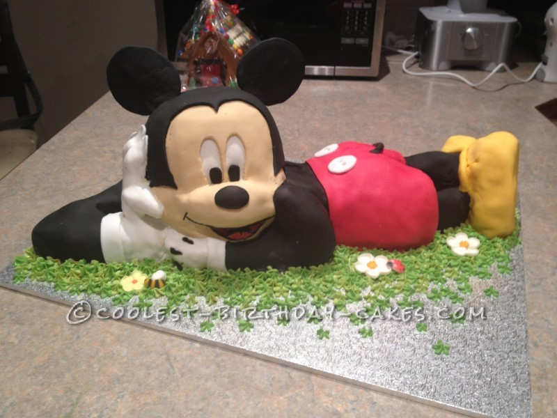 Pleasing Coolest 3D Mickey Mouse Cake For A 2Nd Birthday Funny Birthday Cards Online Fluifree Goldxyz