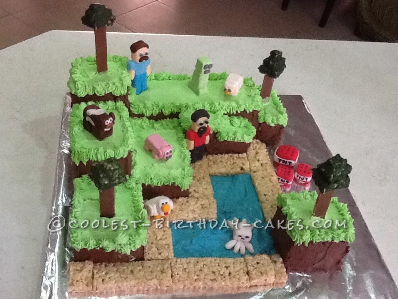 Coolest Minecraft Cake