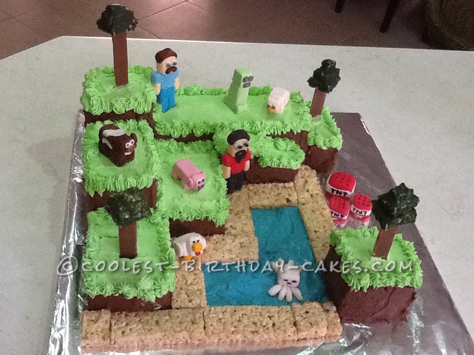 Cool Homemade Minecraft Cake