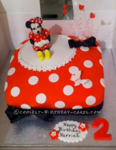 Superb Cool Homemade Minnie Mouse 2Nd Birthday Cake Funny Birthday Cards Online Alyptdamsfinfo
