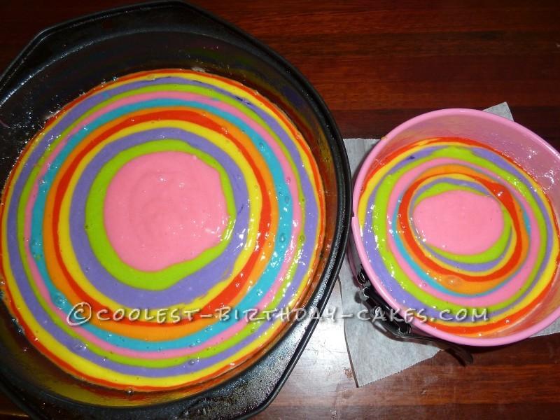 The rainbow cakes