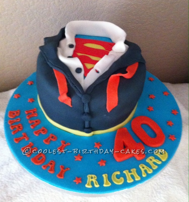 Admirable Coolest Homemade Superman Cakes Personalised Birthday Cards Veneteletsinfo