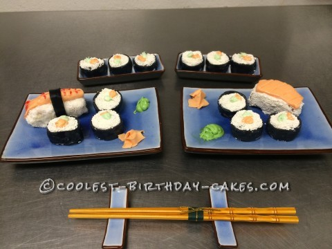 Coolest Sushi Birthday Cake