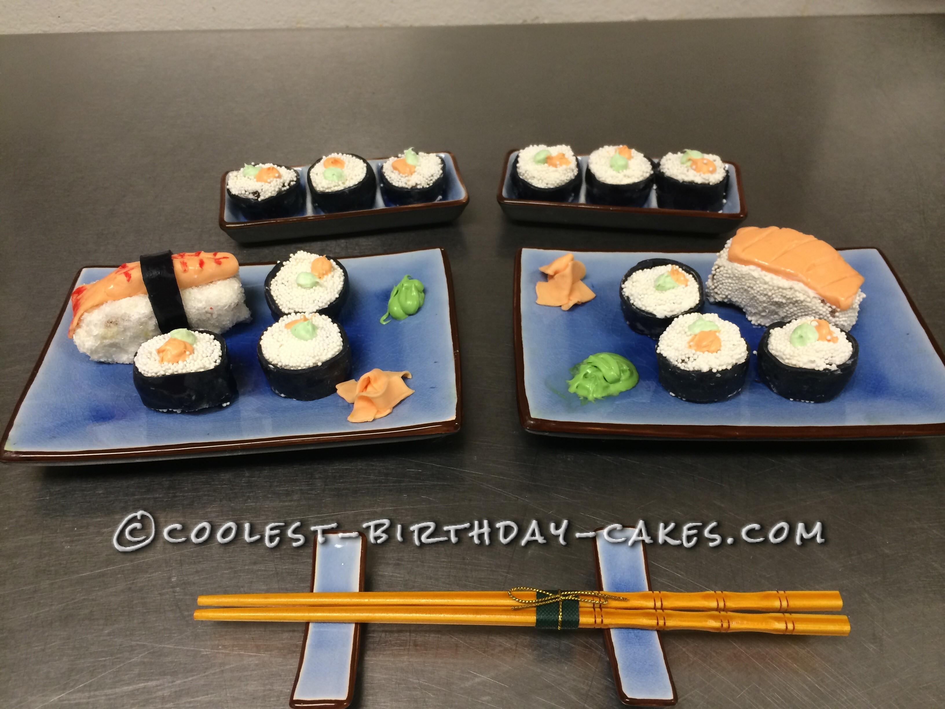 Coolest Sushi Birthday Cake