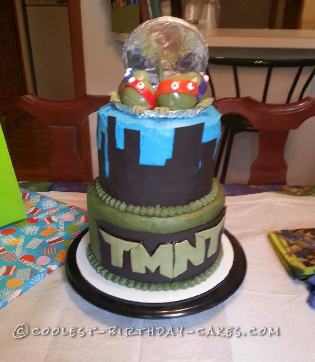 I Made This TMNT Cake For My Little Buddy William On His 2nd Birthday He And Father Are Huge Teenage Mutant Ninja Turtle Fans Dad Wanted A