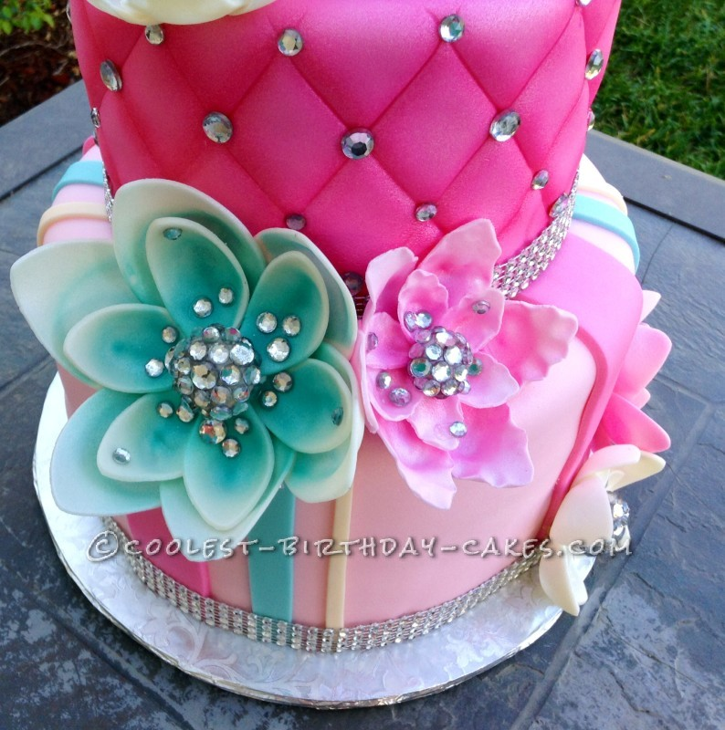 beautiful birthday cake with bling