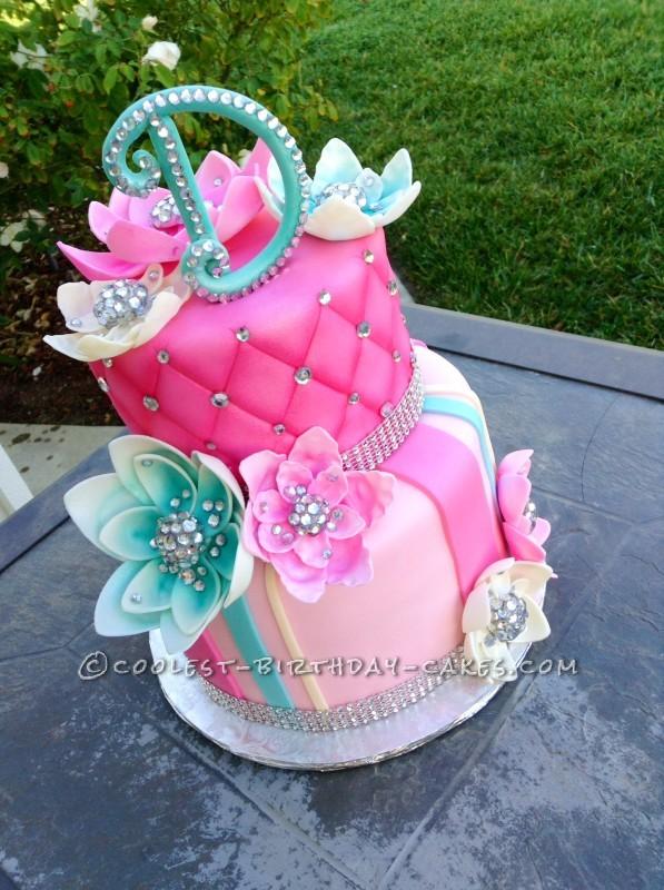 beautiful birthday cake with bling