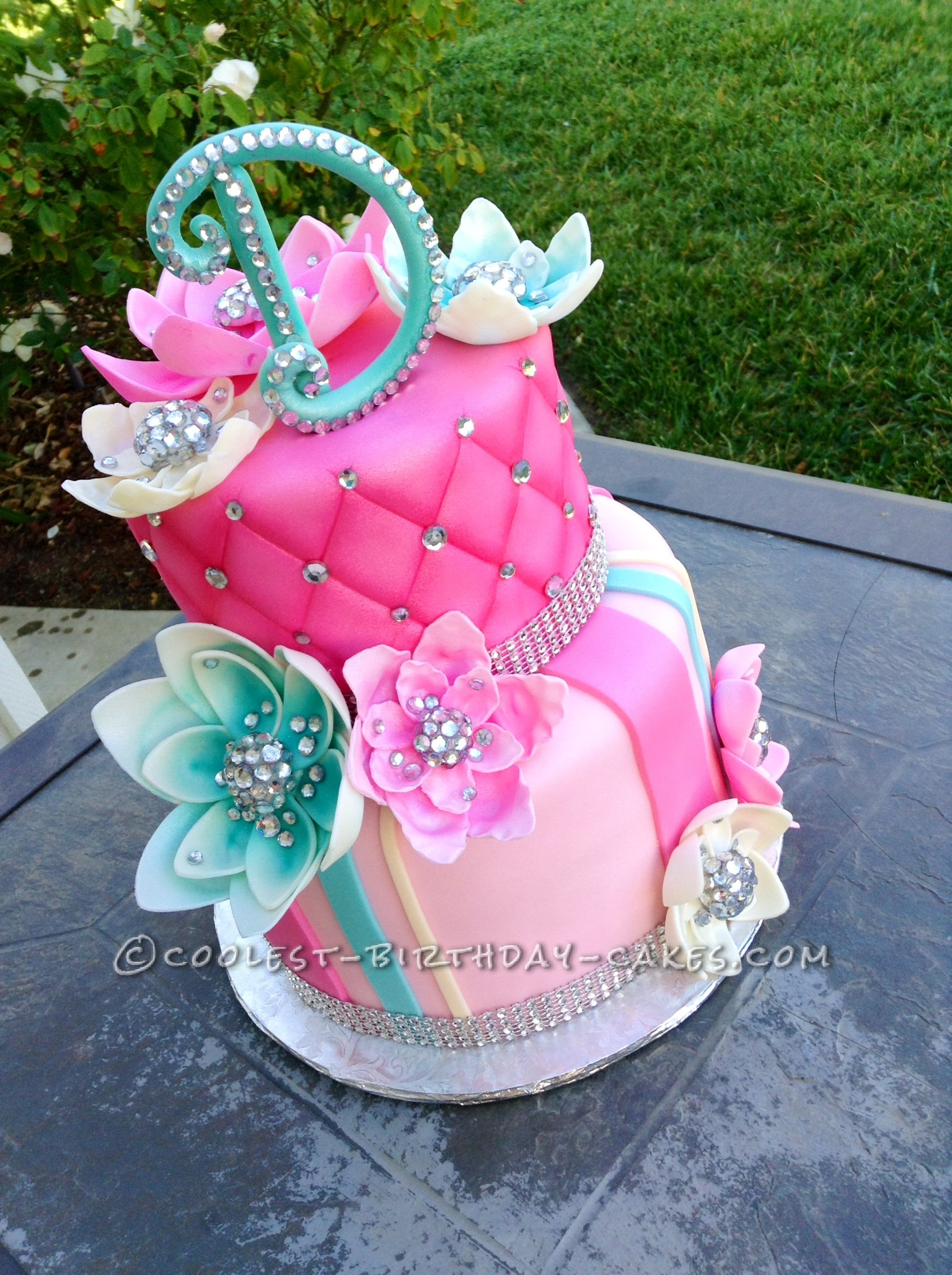 Delicious Homemade Beautiful Birthday Cake With Bling