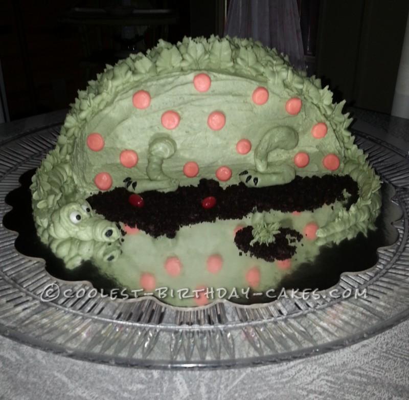 Cool Green Dino Birthday Cake