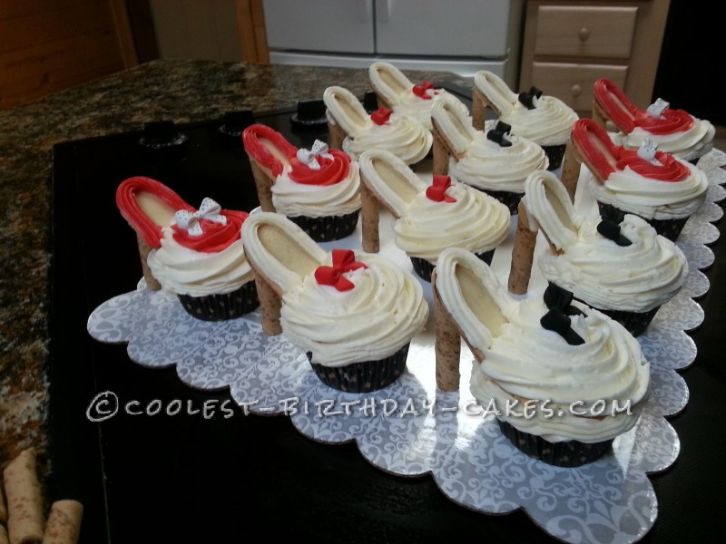 Stylish Diva Shoe Cupcakes
