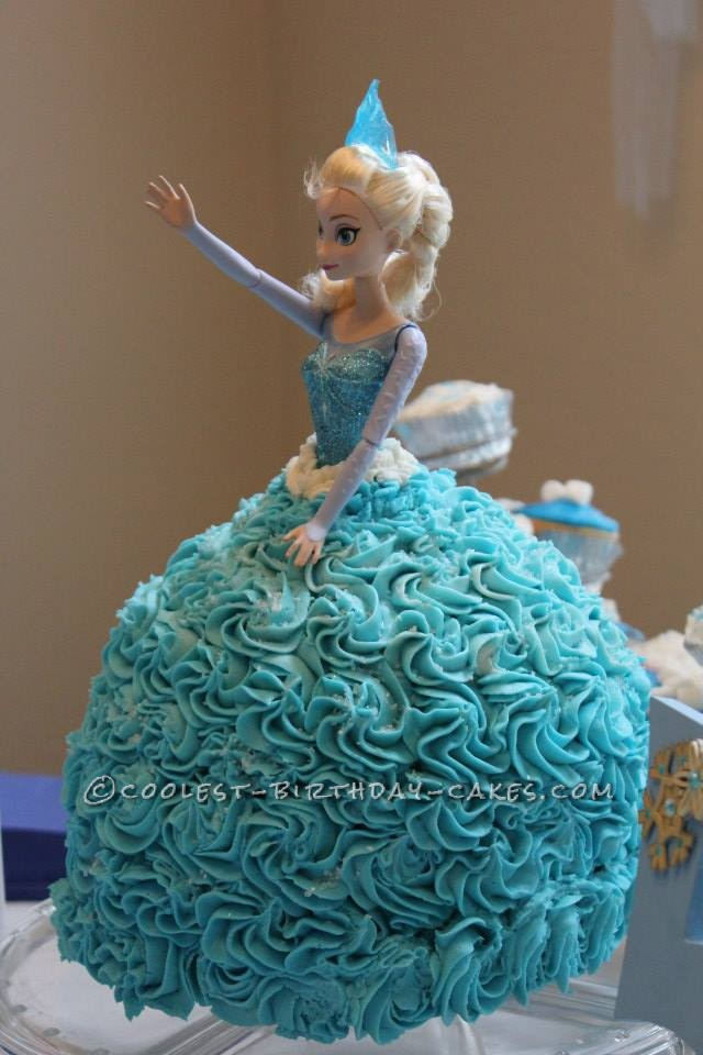 Coolest Elsa Doll Cake from the Disney Movie Frozen