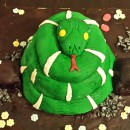 Emerald Tree Boa Cake!