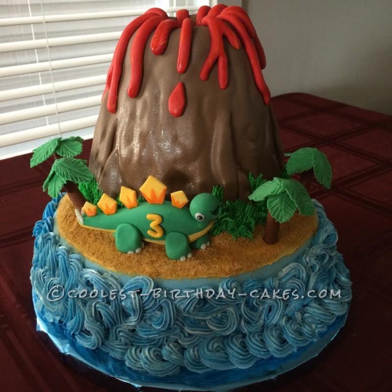 Erupting Volcano Birthday Cake