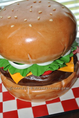 Awesome Giant Burger Cake