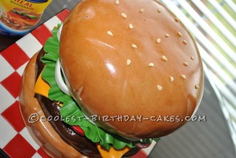 Awesome Giant Burger Cake