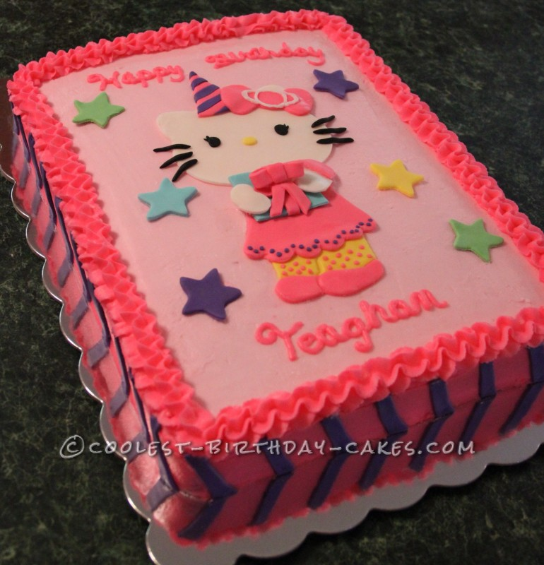 Cool Hello Kitty Cake For A Birthday Girl