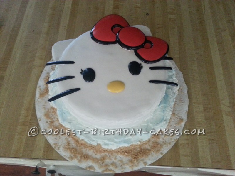 Marvelous Simplest Hello Kitty Cake Idea Personalised Birthday Cards Paralily Jamesorg