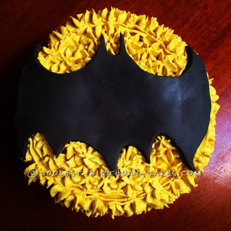 Batman Birthday Cake for a 'Batday' Party