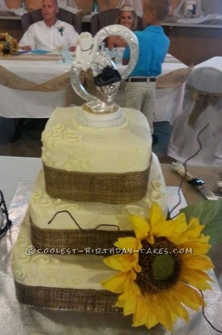 Sunflower-Themed Wedding Cake
