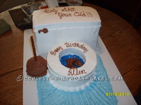 Just for Fun Adult Toilet Bowl Birthday Cake