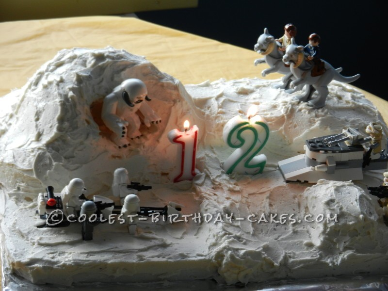 Lego Star Wars Hoth Planet Cake