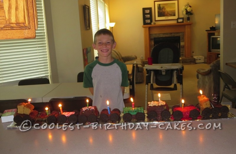Homemade Express Train Birthday Cake