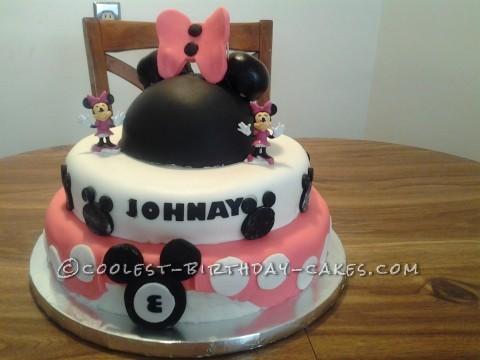 Minnie's World Birthday Cake