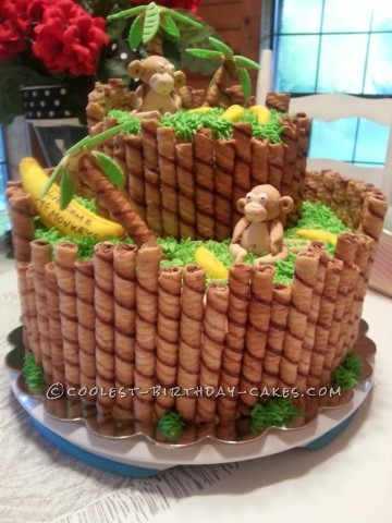 Monkey Around Baby Shower Cake