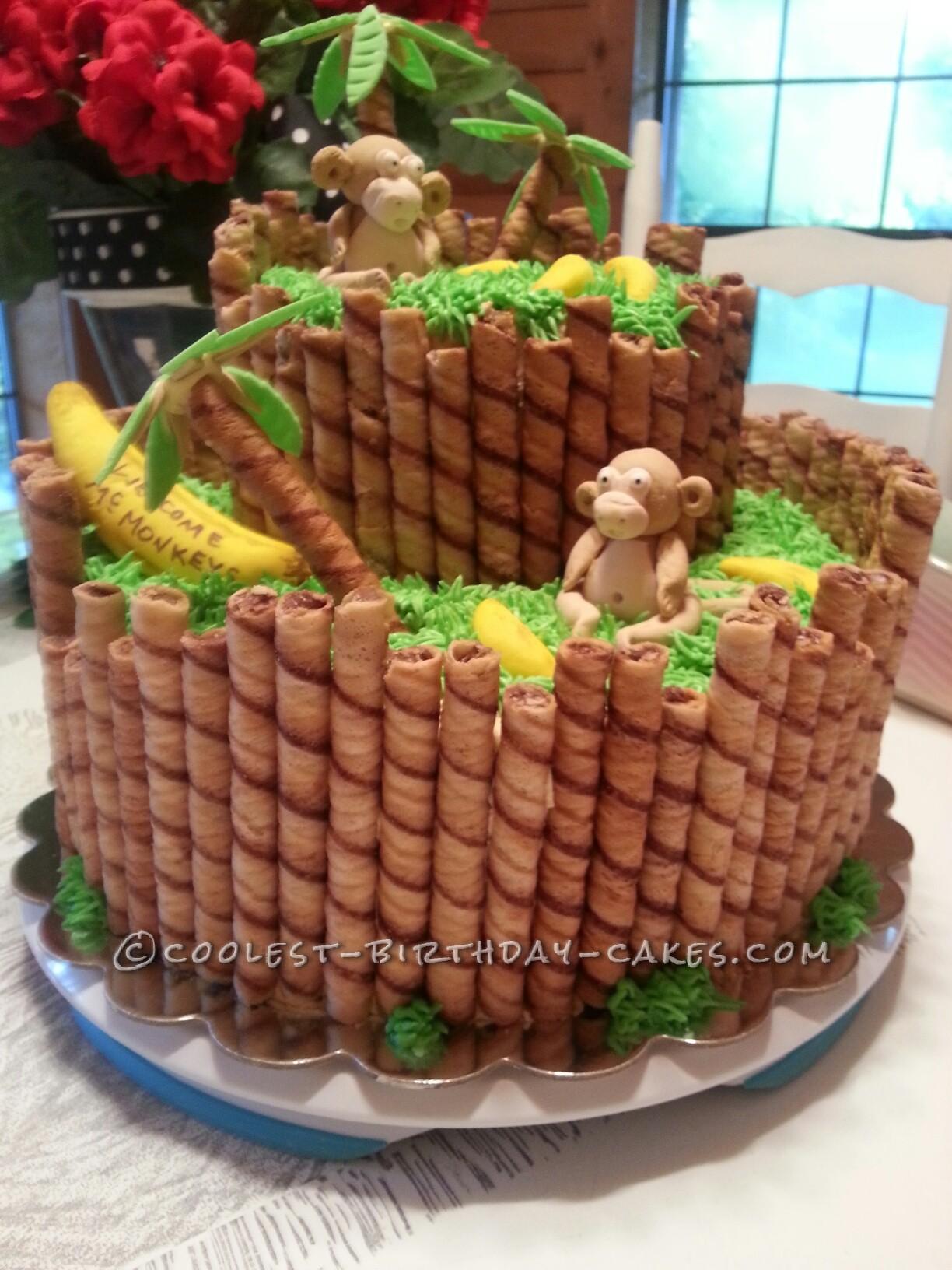 Monkey Around Baby Shower Cake