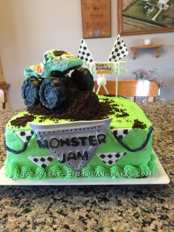 Coolest Homemade Monster Jam Cake - All Edible!