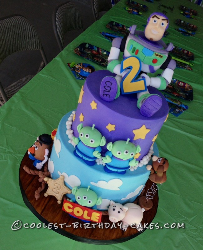 Enjoyable Coolest Homemade Toy Story Cakes Personalised Birthday Cards Rectzonderlifede