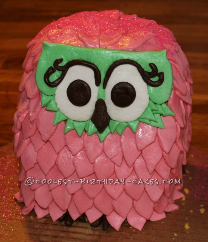 Coolest Owl First Birthday Cake