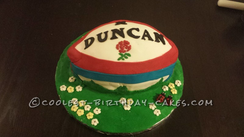 Marvelous Personalised Rugby Ball Birthday Cake Personalised Birthday Cards Veneteletsinfo