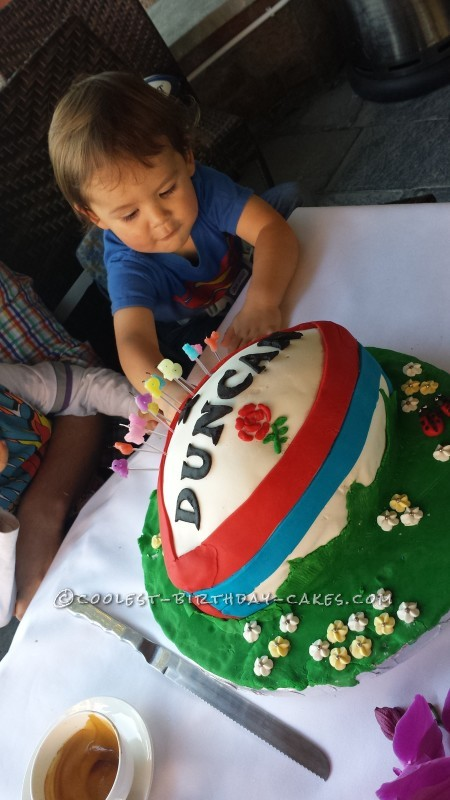 Personalised Rugby Ball Birthday Cake
