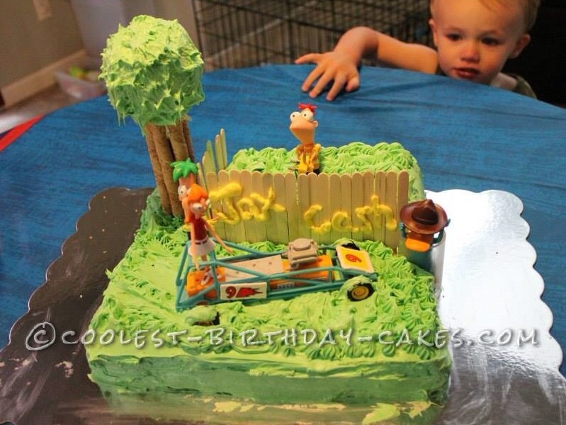 Wondrous Cool Birthday Cake Idea Phineas And Ferb Build A Racecar Funny Birthday Cards Online Alyptdamsfinfo