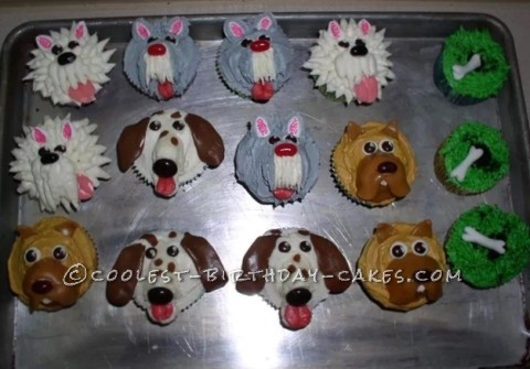 "Coolest ""Pup"" Cake Cupcakes"