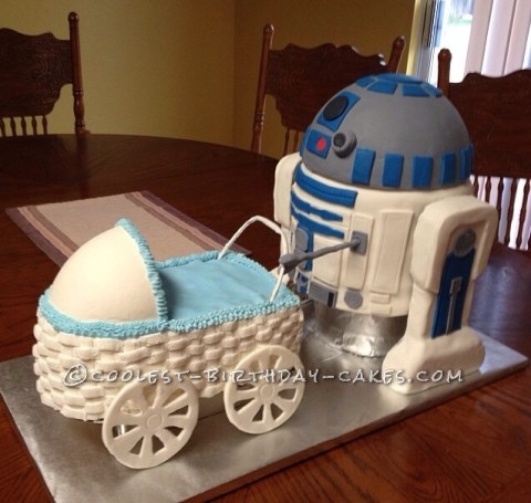 Awesome R2D2 Baby Shower Cake