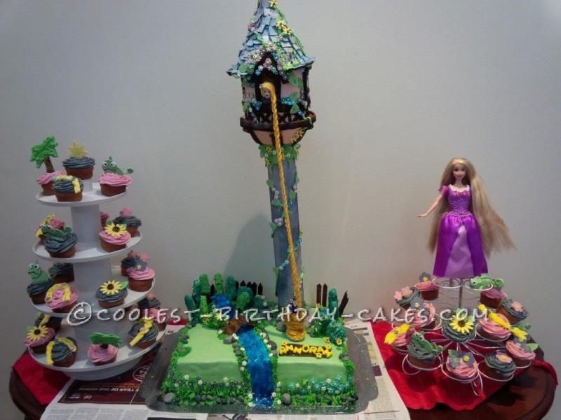 Amazing Rapunzel Tower Cake