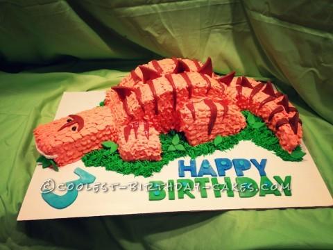 Roaring Cool Dinosaur Cake