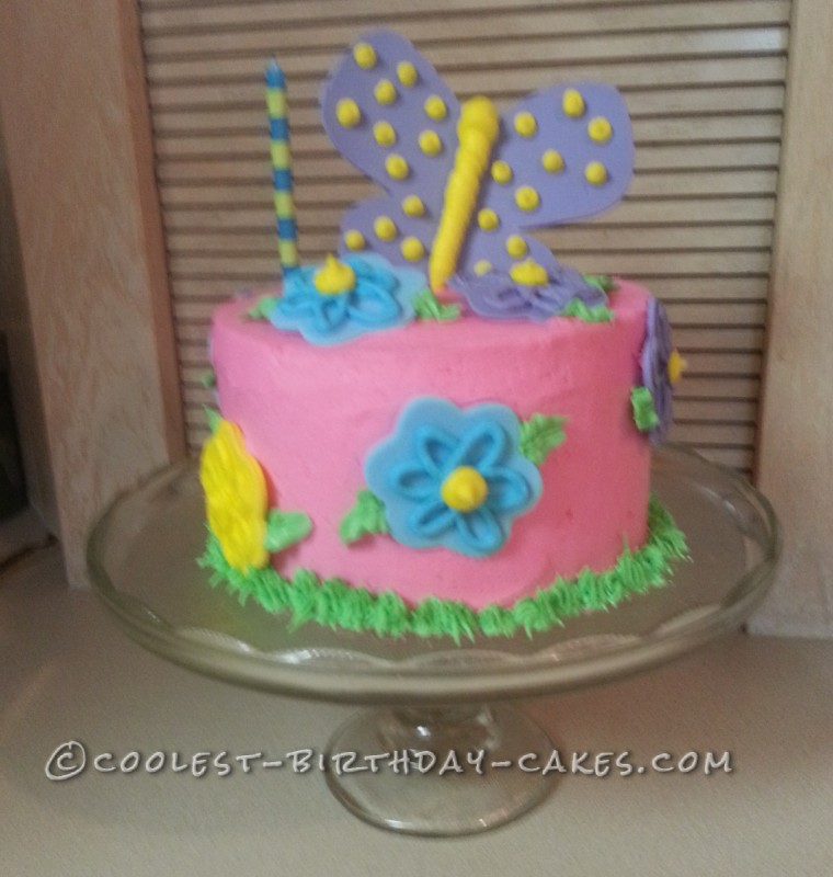 Sweetest 1st Birthday Butterfly Cake