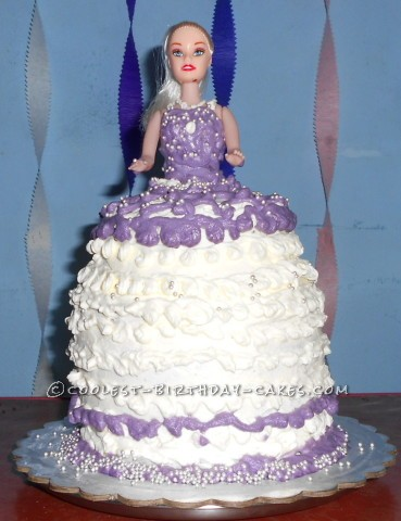 Simple Doll Birthday Cake