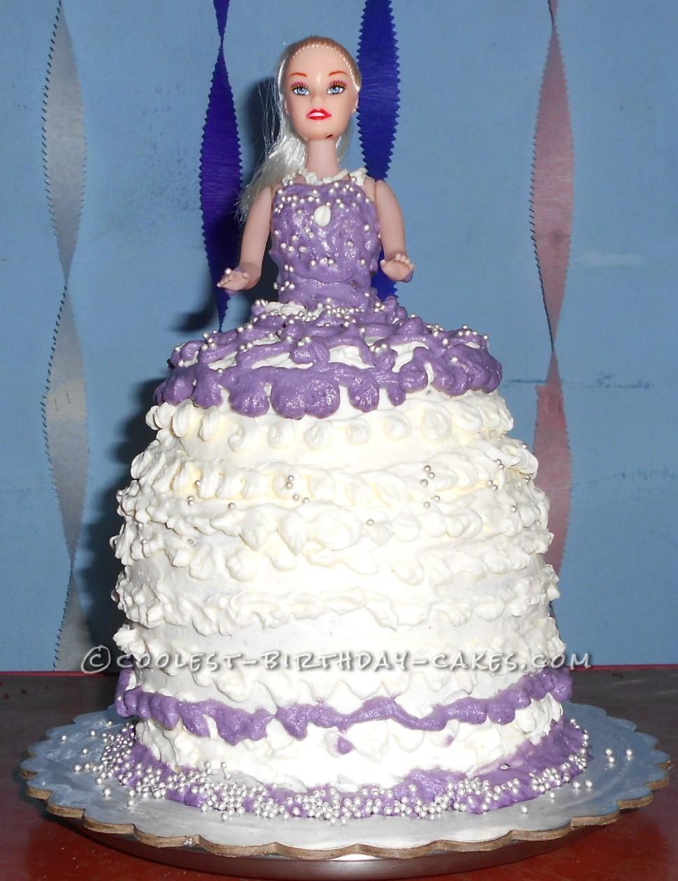 Simple Doll Birthday Cake