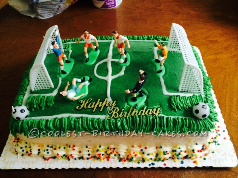 Cool Soccer Field Cake For My Son
