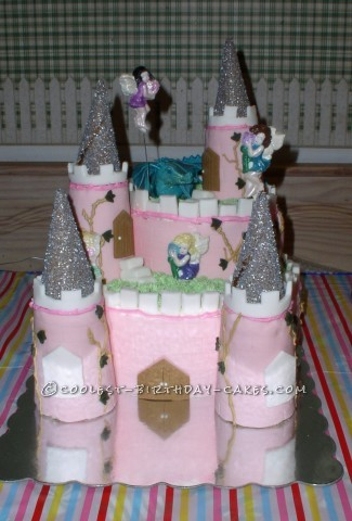 Coolest Homemade Pink Castle Cake