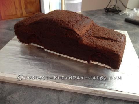 Nudie freshly carved cake