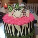 Hot Pink and Zebra Stripes Cake