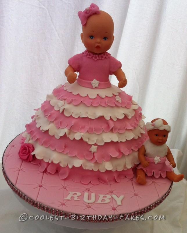 Sweet baby doll cake