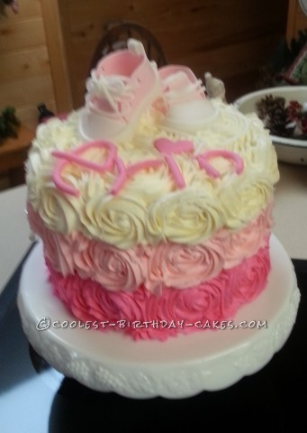 Sweet Surprise Baby Shower Cake